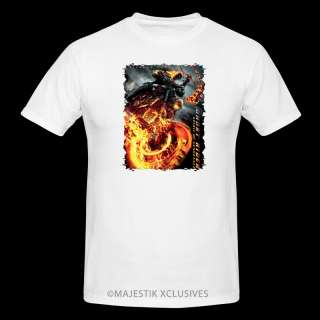 GHOST RIDER SPIRIT OF VENGEANCE MOVIE T SHIRT S XL WHITE NICHOLAS CAGE
