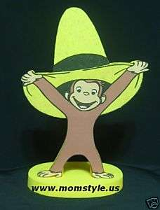 Curious George birthday party centerpiece decoration