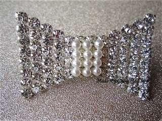 Crystal Bow Diamond Diamante Pearl Ring Choochie Choo