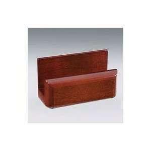 Wood Tones Business Card Holder, Holds 50 Cards, Black