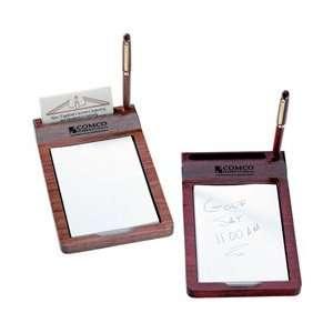 1464    Wood Memo, Business Card Holder and Pen Set
