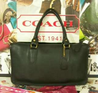 VINTAGE Classic Black COACH Leatherware Small Briefcase Bag Purse