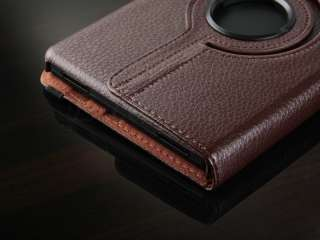 Brown  Kindle Fire WIFI 360°Rotating Leather Case Cover
