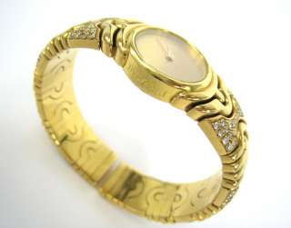 Bvlgari Parentesi BJ 01 Diamond 18K Yellow Gold Ladys Bangle Watch