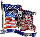 New AMERICAN FLAG & EAGLE METAL WALL ART Patriotic Decorations