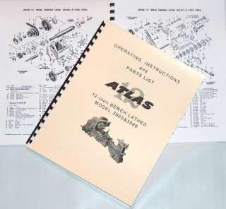 ATLAS/CRAFTSMAN 12 LATHE Clausing Manual 3985 3986
