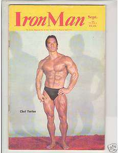 IronMan Bodybuilding muscle fitness magazine CHET YORTON / Steve Davis