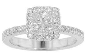 10 CT LADYS PRINCESS CUT DIAMOND ENGAGEMENT RING