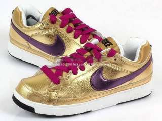 Nike Wmns Air Troupe Low Metalli Gold Dancing Shoes