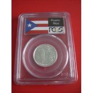 Flag Silver Puerto Rico PCGS PR69 DCAM Proof Quarter Territories Coin