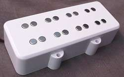 DOUBLE POLE PICKUP FOR 4 STRING BASS GUITAR   WHITE