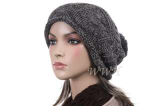 Promo Crochet Knit Beanie Hat Knit Winter Cap be427g