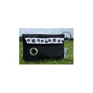 DawggieGoPak® Black w/ white ribbon black paws Pet