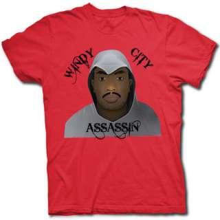 DERRICK ROSE WINDY CITY ASSASSIN T SHIRT   CHICAGO BULLS MVP UNDER THE