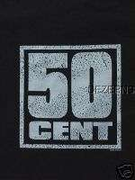 50 CENT LOGO MENS BLACK T SHIRT LARGE