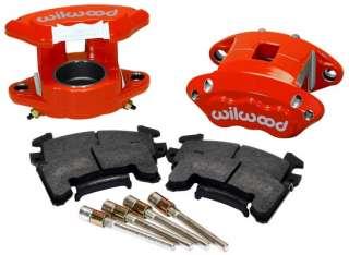 WILWOOD D154 BRAKE CALIPER & PAD SET W/PINS,FRONT,1 PISTON,1.04,RED