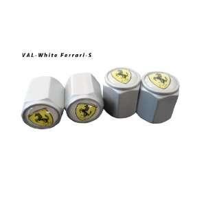 AGT Aluminum Silver Valve Caps Tire Cap Stem for Ferrari Wheels (Pack