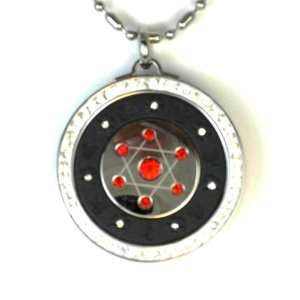 Red Crystal 6 pointed Star Zero Point Energy and Scalar Pendant
