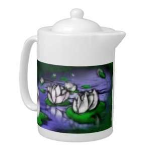 Little Lotus Pond Porcelain Teapot