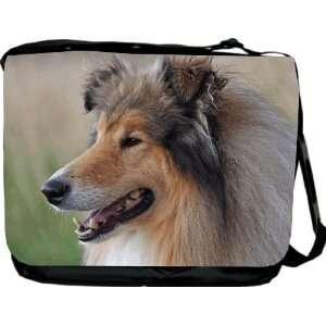 Rikki KnightTM Collie Dog Messenger Bag   Book Bag