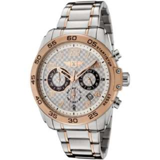 Invicta Mens Chronograph Stainless Steel Rose Gold Plated with Trim
