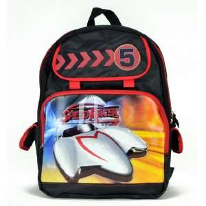 Japanese Classic Cartoon Style Speed Racer Large Backpack