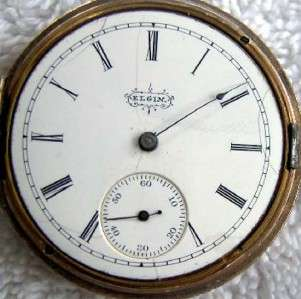 ANTIQUE ELGIN POCKET WATCH H/C S/S H/Ls 6s