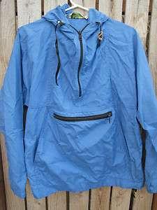 vtg 70s LL Bean blue nylon hooded windbreaker jacket WOMENS L