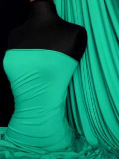 Sea green viscose cotton stretch lycra fabric material