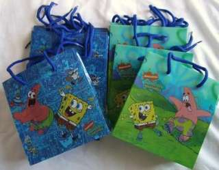 Spongebob Squarepants Goody Gift Loot Bag Birthday Party Favor Supply