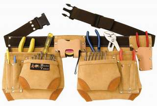 TOP OF THE LINE SUEDE LEATHER TOOL POUCH BELT