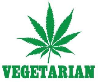 Vegetarian T Shirt Cannabis Weed Cool Funny Marijuana