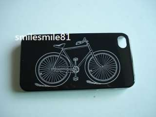 Cool Bicycle Print Hard Case Cover for iPhone 4G 4S
