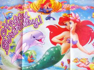 LITTLE MERMAID PRINCESS ARIEL HAPPY BIRTHDAY BANNER