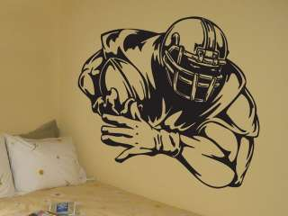 Vinyl Wall Decal Sticker Big Football Player Decoration