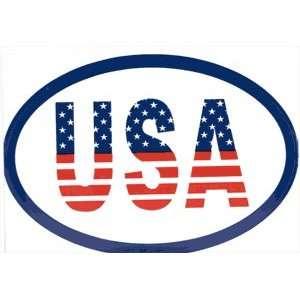 USA Oval LARGE Weatherproof VINYL Decal Sticker 6 x 4