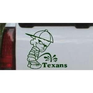 Pee on Texans Car Window Wall Laptop Decal Sticker    Dark