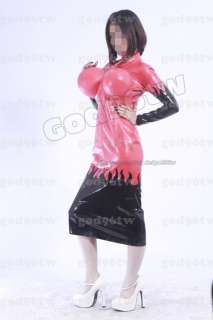 100% Latex Gummi Kleid Dress Aufblasbar Catsuit Kostüm