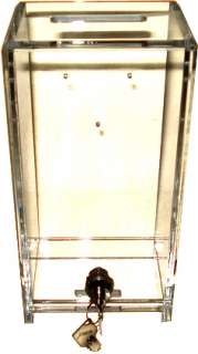 Lg Acrylic Dealer Toke Box w/ J Hook Las Vegas Style *