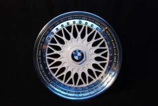 WHITE BBS RC 8/9X17 BMW STYLING 5 RIMS MIRROR POLISHED