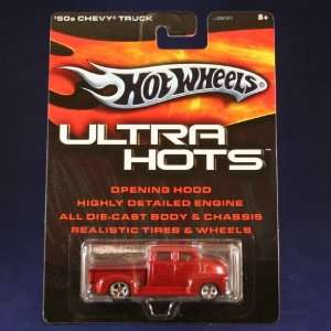 50s CHEVY TRUCK (RED) Hot Wheels 2005 ULTRA HOTS 164 Scale Die Cast