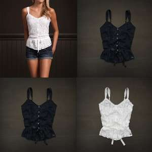 Hollister by Abercrombie womens Pretty Lace Overlay Tank Top T Shirt