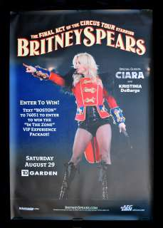 BRITNEY SPEARS CIRCUS CONCERT TOUR * ORIG POSTER 2009