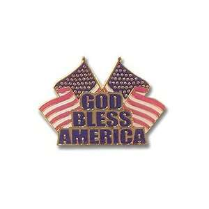 God Bless America Flag Pin