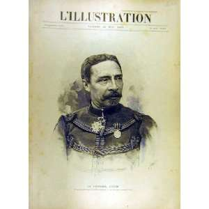 1893 Portrait General Dodds Military French Print