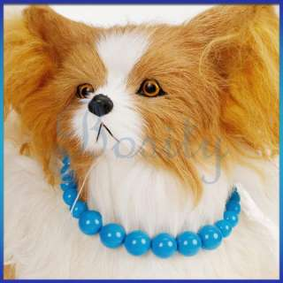 Dog Pet Cat Necklace Beaded Necklace Blue