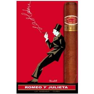11x 14 Poster. Romeo y Julieta, Cuban Cigar poster. Deccor with