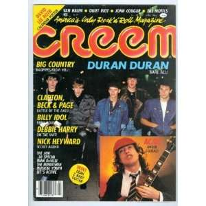 CREEM MAGAZINE   APRIL 1984 ISSUE  DURAN DURAN COVER CREEM Books