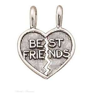 Necklace With BEST FRIENDS Two Piece Shareable Heart Pendants Jewelry