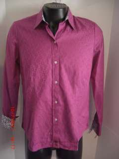 Robert Graham Womens Casual Circle tonal pattern Shirt X Large $295